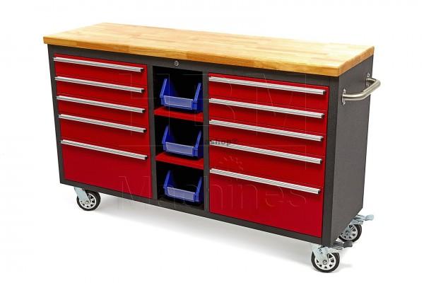 Werkstattwagen 10 Laden mit Holztafel