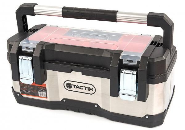 Tactix Professional Werkzeugkoffer aus Edelstahl