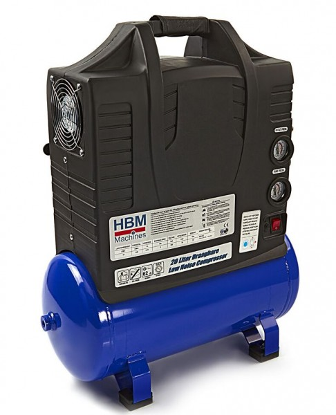 Tragbarer Leiseläufer Kompressor 20 Liter 62dB