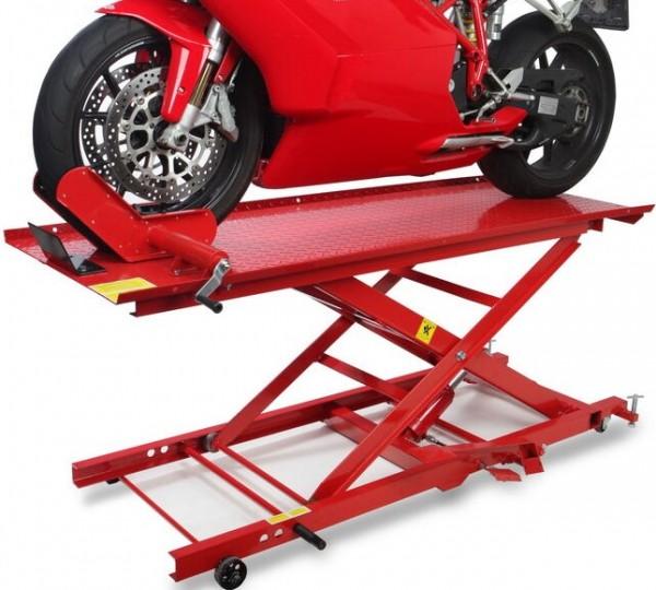 Motorradhebebühne bis 450 kg - ROT