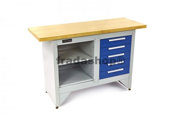 Werkbank mit Holztisch 137cm
