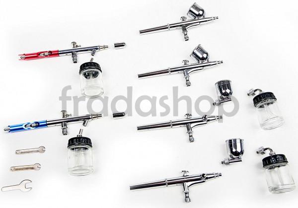 Airbrush Pistolen 6er Set mit 7CC und 22CC Becher