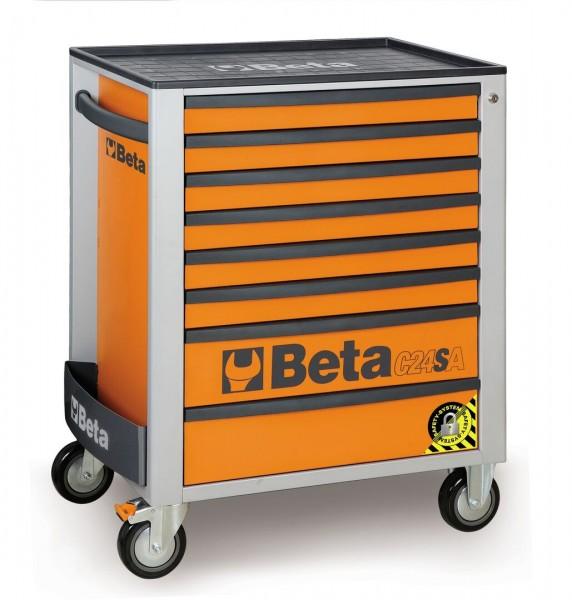 Beta Werkzeugwagen 8 Schubladen Orange - C24 SA/O