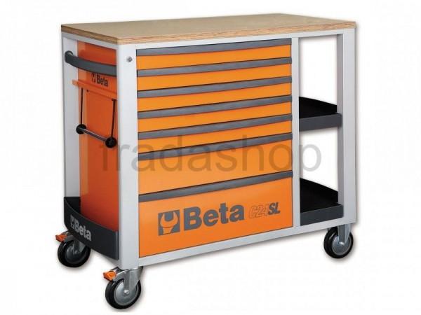Beta Fahrbare Werkbank Orange - C24SI/O