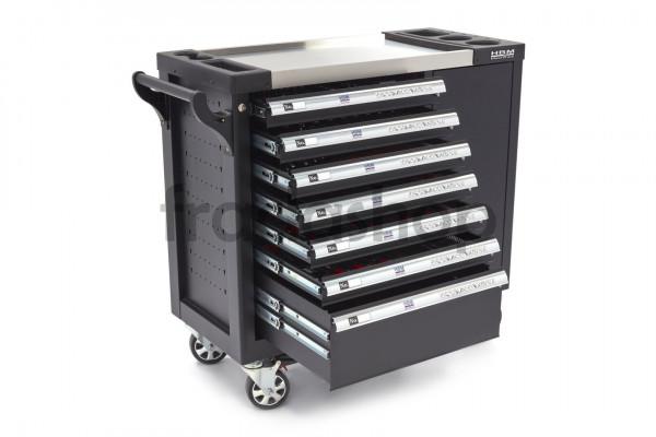 HBM 274 teilig XL Premium gefüllter Werkzeugwagen mit Tür und Carbon Einlagen
