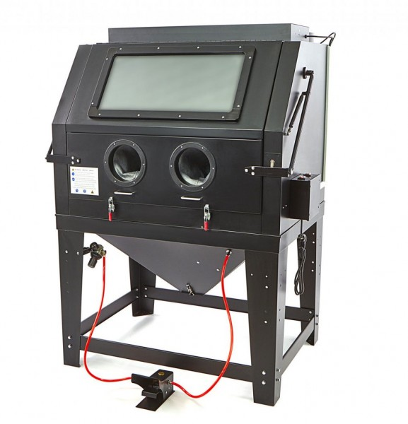 Sandstrahlkabine SBC 990 Mattschwarz