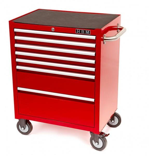 7 Schubladen Deluxe-Werkzeugwagen Rot