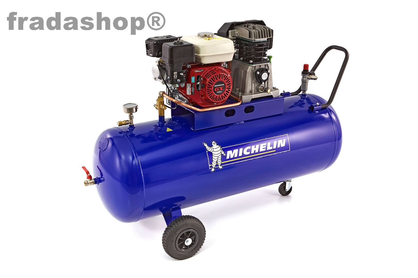 benzinbetriebener kompressor michelin 200 liter 5 5 hp. Black Bedroom Furniture Sets. Home Design Ideas