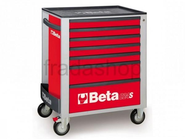Beta 7 Fächer Werkzeugwagen Rot - C24S 7/R