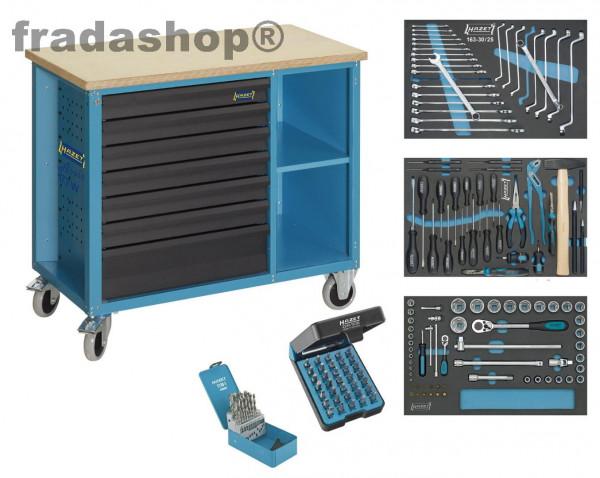 Hazet 177W-7169 169-teilige mobile Werkbank mit Werkzeugen - 7 Schubladen