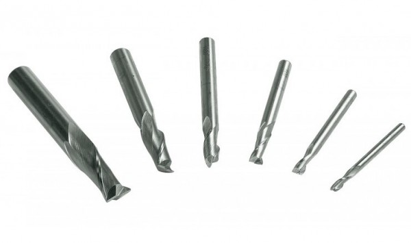 Schaftfräser 6-teiliges Set 3-10mm