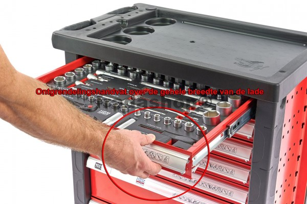 Werkzeugwagen Premium gefüllt 196tlg. rot