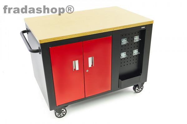 Mobile Werkbank, Werkzeugwagen mit 10 Schubladen und Schrank