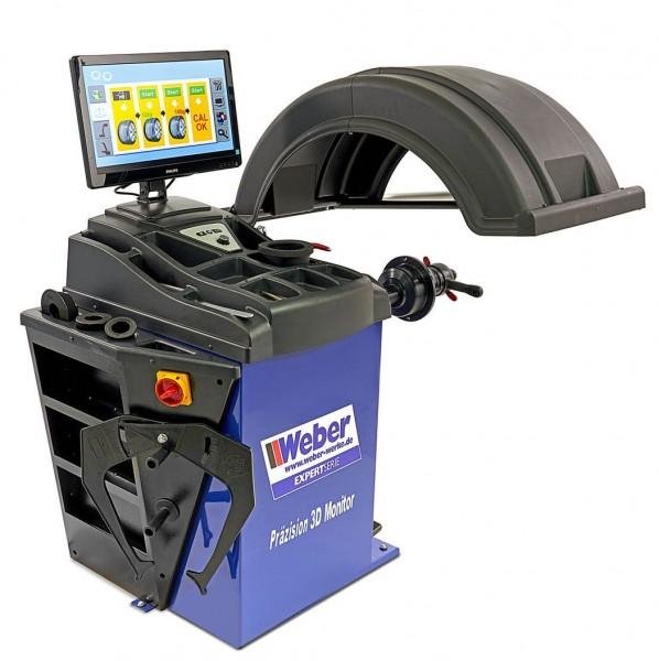Expert Series Professionelle Reifenwuchtmaschine für PKW und Transporter mit Präzisions-3D-Monitor