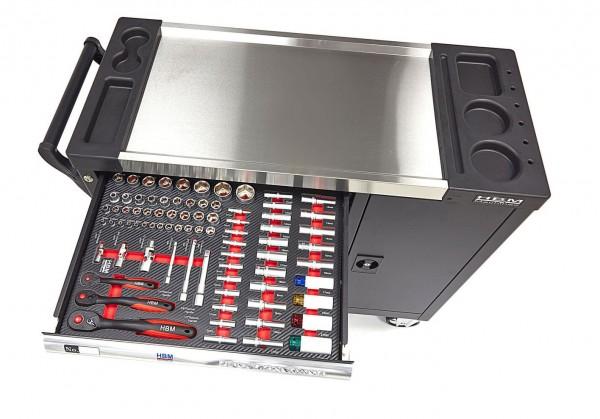 HBM 274 teilig XL Premium gefüllter Werkzeugwagen