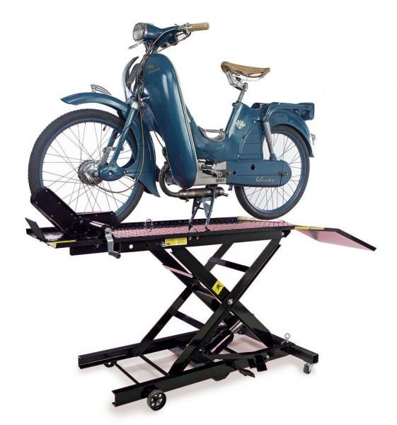 Motorradhebebühne bis 400 kg - Schwarz