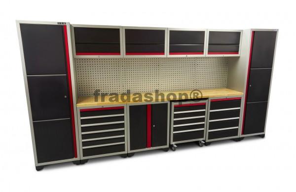 Modulares Arbeitsplatzsystem / Werkbank 16 teiliges Schranksystem