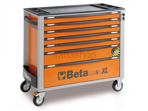 Beta 7 Schubladen XL Werkzeugwagen Orange - C24SA-XL-7/O
