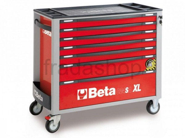 Beta 7 Schubladen XL Werkzeugwagen Rot - C24SA-XL-7/R
