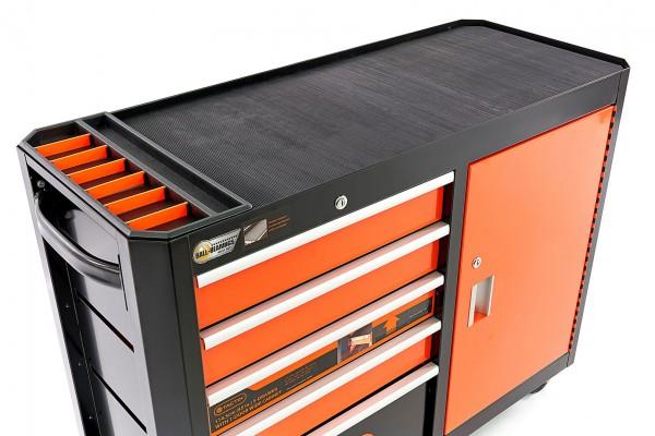 Tactix Werkzeugwagen 115 cm, Werkbank 5x Schublade