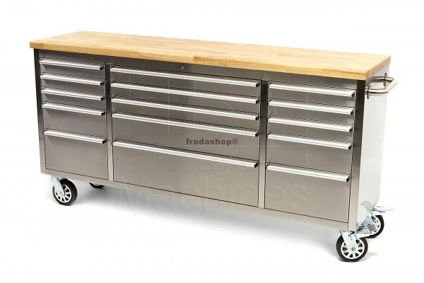 Edelstahl Werkzeugwagen mit Holzblatt - Angebote