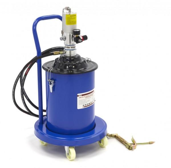 20 Liter mobile pneumatische Fettpumpe 300-400 bar Förderdruck - Fettpresse