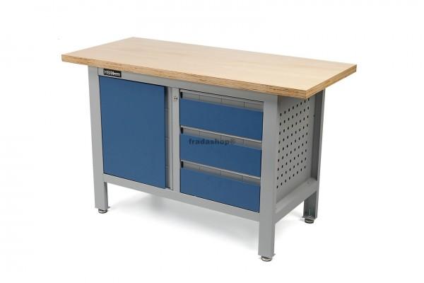 Werkbank mit Holztisch 138cm
