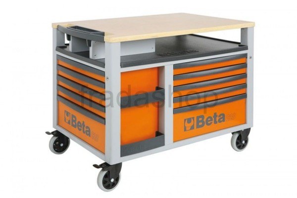 Beta Fahrbare Werkbank Orange
