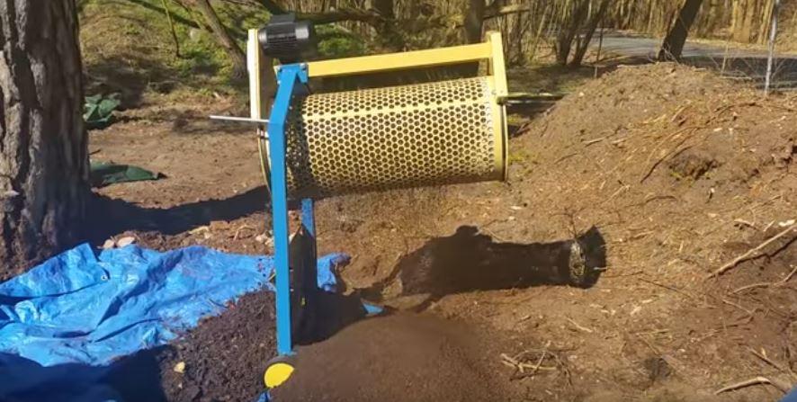 Rollsieb für Bodenerde Ø400mm 360W