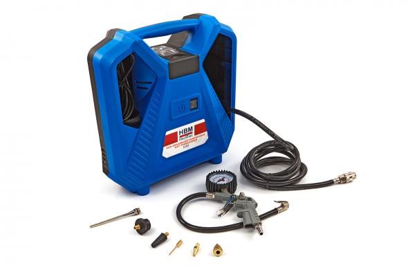 Portabler Kompressor mit Zubehör